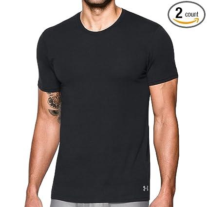 2e48e28062022 Amazon.com  Under Armour Men s Core Crew Undershirt – 2-Pack  Sports ...