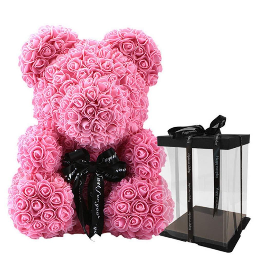 Rose Bear Birthday Valentine Gift Toy Women Girls Flower Birthday Valentine Wedding Party Doll Gift Girlfriend Festive & Party Supplies
