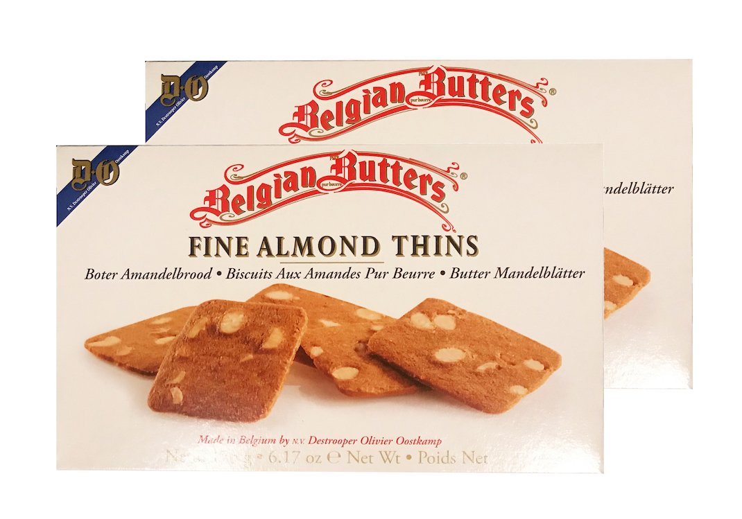 Belgian Butters Fine Almond Thins, 6.17 Oz - 2 Pack.