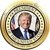 "6 PACK BUTTONS! - DONALD TRUMP PRESIDENTIAL INAUGURATION 2.25"" Inch Pins Badges January 20, 2017 - New Release! GOLD SEAL - SIX BUTTONS!"