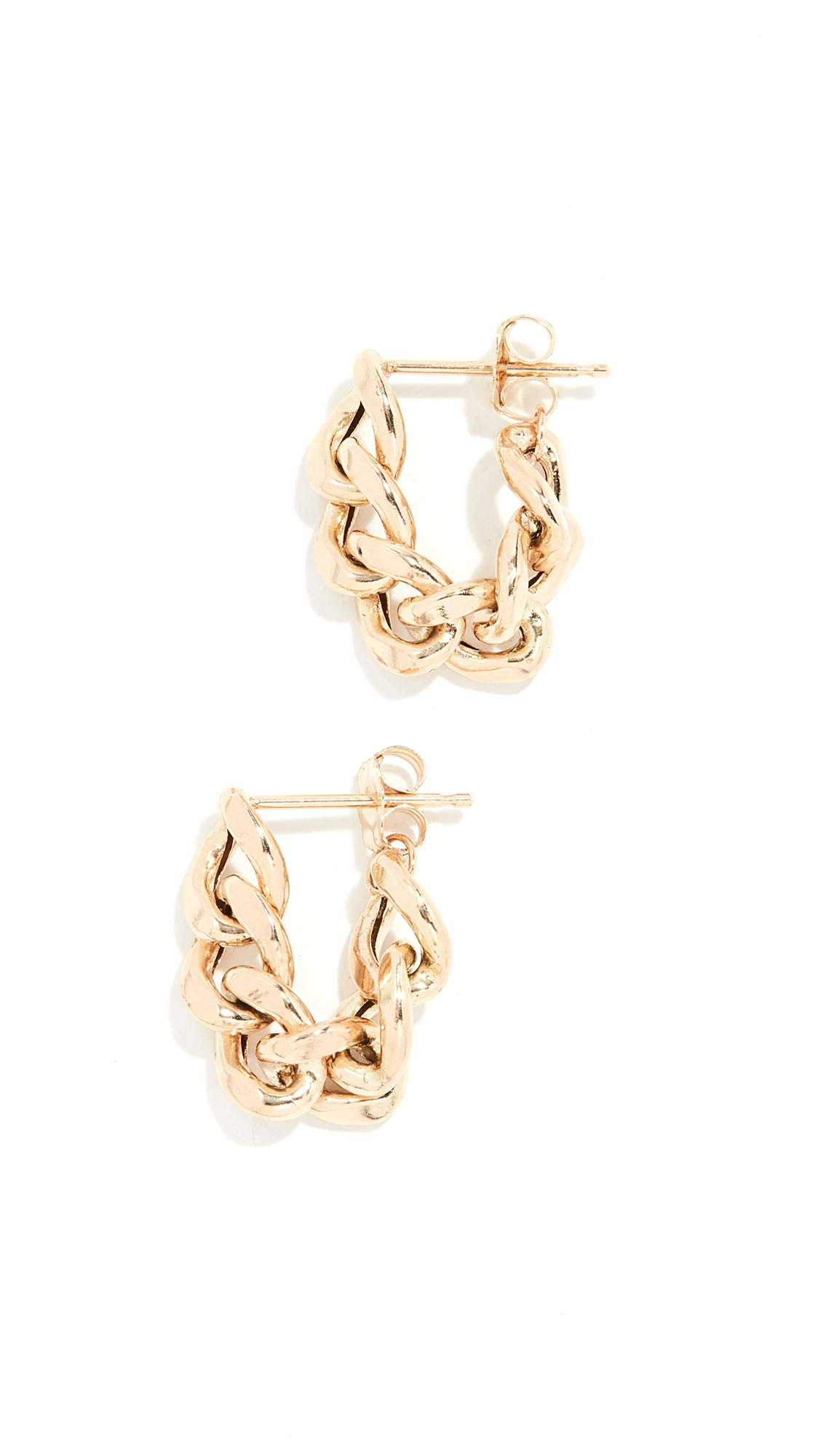 Zoe Chicco Women's 14k Gold Chain Hoop Earrings, Yellow Gold, One Size