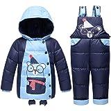 LSERVER-unisex tuta da sci per bambino piumino bambino invernale giacca bambina snowsuit snowboard piumino leggero giacche completo da neve per bambino 2 pezzi,1-3 anni