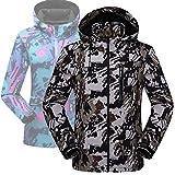 Xiami Leyuan XMLY Mens/Womens Snow Camo Windbreak Softshell Ski Jacket Couples Coat (XXS(Men 45-55kg), Men Navy Green)