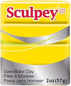 Sculpey S302 072, III Polymer Clay 2 Ounces-Yellow