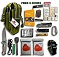 42 in 1 EMERGENCY OUTDOOR SURVIVAL MILITARY POUCH KIT, CAMPING, HIKING, BIKING, HUNTING, BACKPACKING GEARS, AUTO, CAR, TRAVELING, FIRST AID KIT, 2x MYLAR BLANKET, TACTICAL FLASHLIGHT, FOLDING KNIFE from STEALTH SQUADS