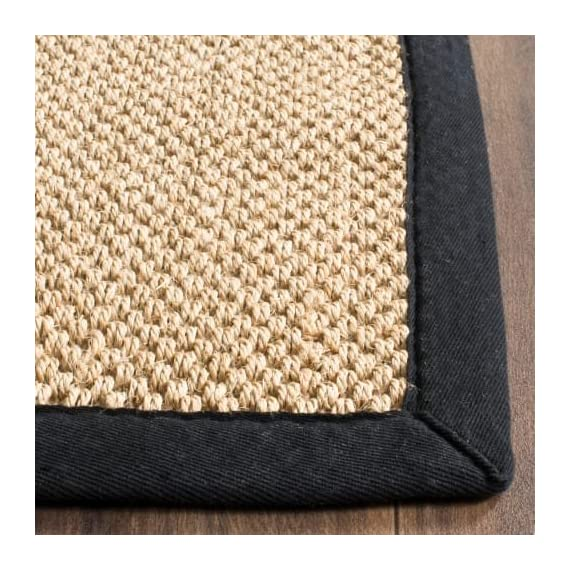 Safavieh NF141C-10 Area Rugs - Construction Power Loomed Fiber/Finish 100% Sisal Pile Backing Power Loomed Rugs Do Not Use Backing Material On The Underside Of The Rug. A Thin Coat Of Latex Is Applied To The Underside Of The Rug To Secure The Yarns Firmly In Place. This Latex Coat Is Virtually Invisible And Is Not Considered Backing Material. - living-room-soft-furnishings, living-room, area-rugs - 61CzbK 3ouL. SS570  -