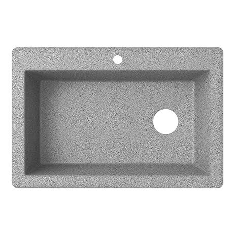 Swaoi|#Swanstone QZ03322SB.173 22-In X 33-In Granite Kitchen Sink ...