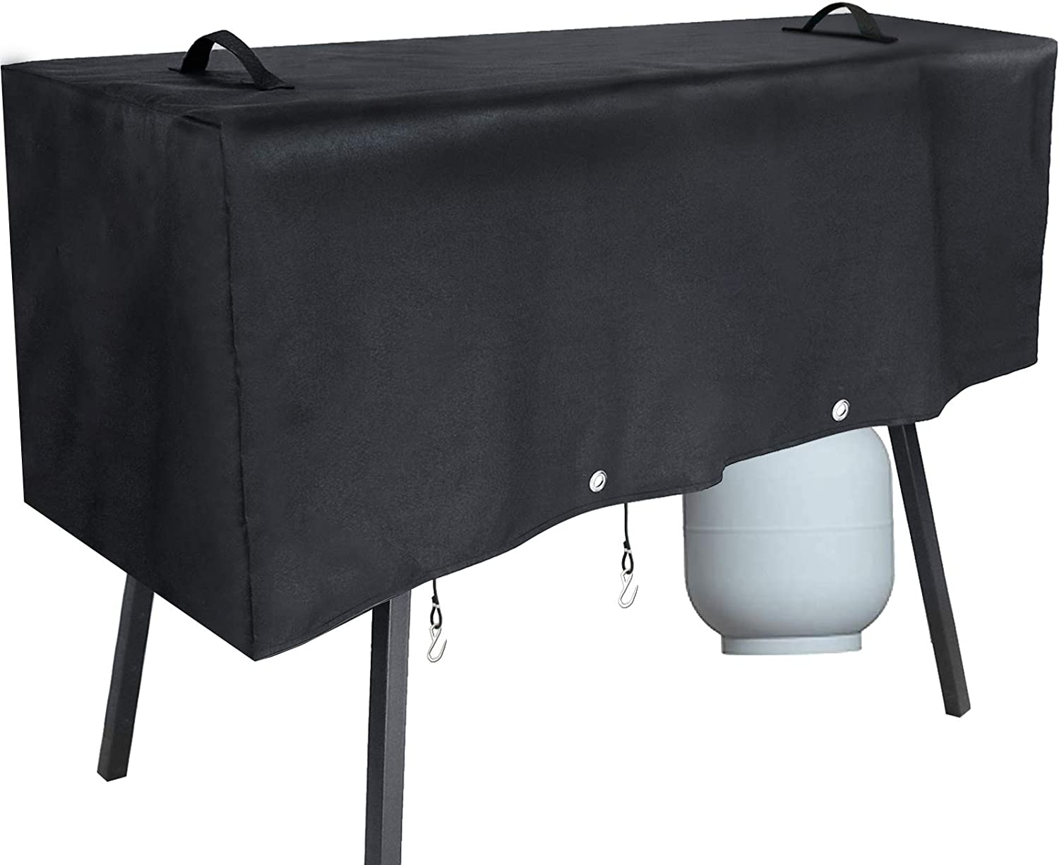 Hisencn Patio Cover Fits Camp Chef 3 Propane Burner Stove, Heavy-Duty Water Proof Grill Cover Fits Models of PRO90 TB90LW TB90LWG TB90LWG15 DB90D SPG90B, Black