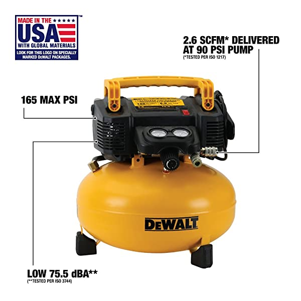 DEWALT DWFP55126 is one of the best pancake air compressors on the market
