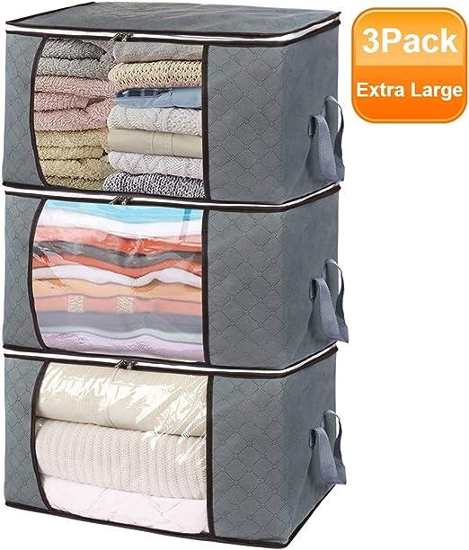 Foldable Home Closet Storage Bag Clothes Quilt Blanket Zipper Organizer Box Bags