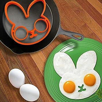 Primi Lovely Creative Pancake antiadherente Bakeware huevo frito anillos de moldes Utensilios de cocina accesorios: Amazon.es: Hogar