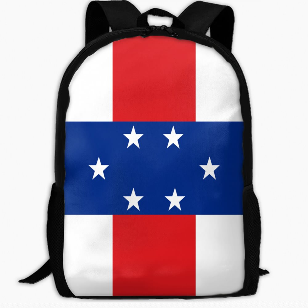 子供の学校のバックパックの国旗オランダアンティル諸島アウトドア旅行バックパック学生バックパックガールズBookバッグユニセックスショルダーDaypack   B07FVXFBCL
