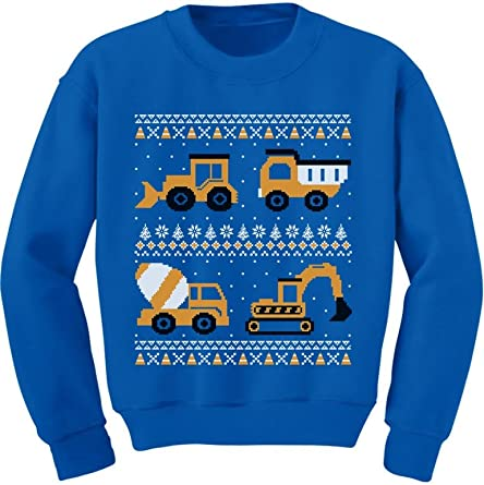 Firetrucks Firemen Ugly Christmas Sweater Toddler Kids T-Shirt Xmas Present