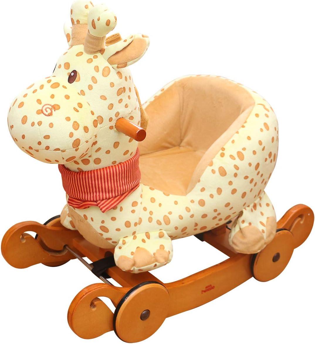 Lovable playmates Girafe Jaune Jouet /à Bascule b/éb/és Peluche Cheval /à Bascule en Bois Jouet