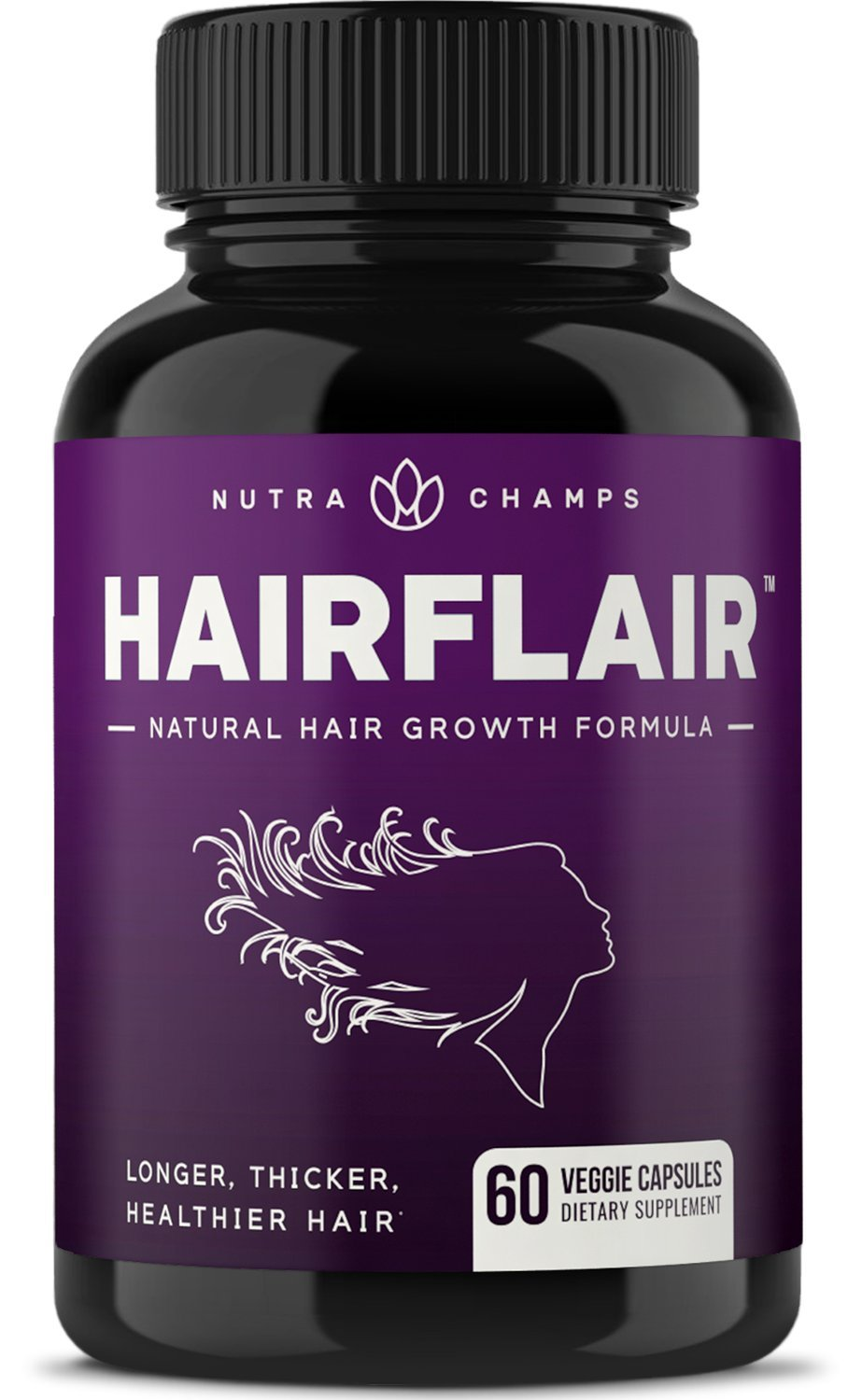 HairFlair - Hair Growth Vitamins with Biotin for Longer, Stronger, Healthier Hair - Hair, Skin and Nails Supplement - for All Hair Types - Premium Formula with Keratin, Collagen, Bamboo, Aloe & More! by NutraChamps
