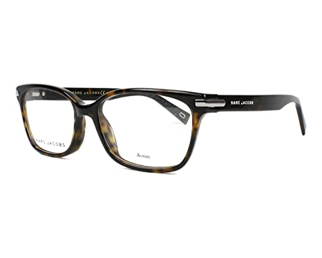 25d5870ee8d Amazon.com  Marc Jacobs frame (MARC-190 C9B) Acetate Dark Havana ...