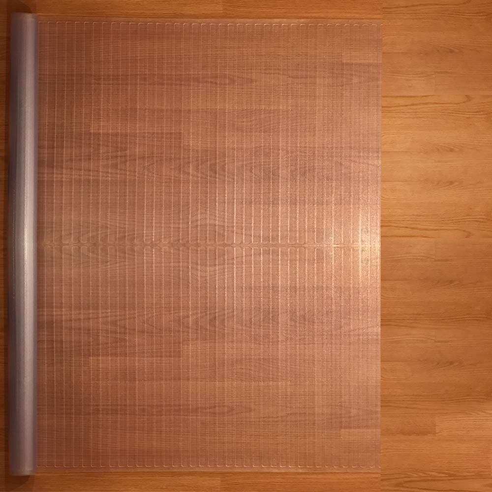Resilia - Clear Vinyl Plastic Floor Runner/Protector for Hardfloors - Decorative, Dual Pad Pattern, (48 Inches Wide x 25 Feet Long)