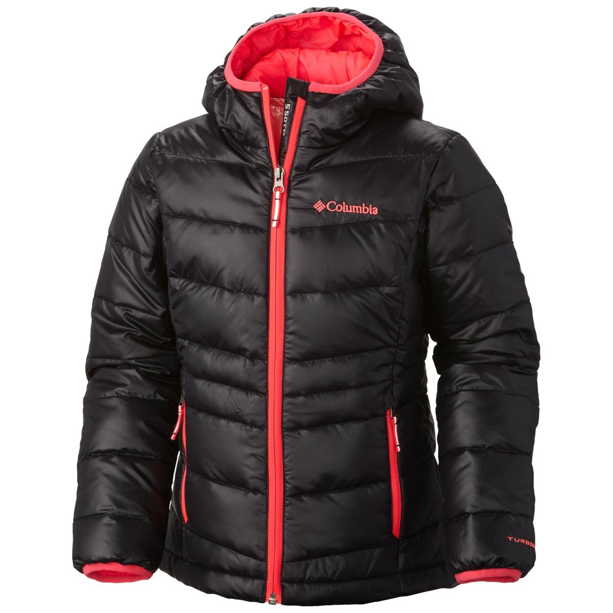Columbia Girls Gold 550 TurboDown Hooded Down Jacket Columbia (Sporting Goods) 1624541