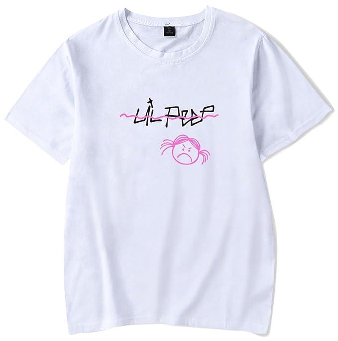 SERAPHY 2018 R.I.P Lil Peep T-Shirt Primavera Estate Angry Girl Rapper Hip  Hop T-Shirt Unisex Casual Uomo Donna Stampa Abiti  Amazon.it  Abbigliamento 2b40a7b187e2