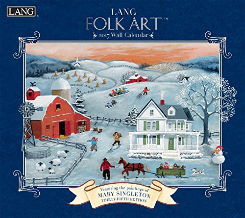 Lang 2017 Lang Folk Art Wall Calendar, 13.375 x 24 inches (17991001922)