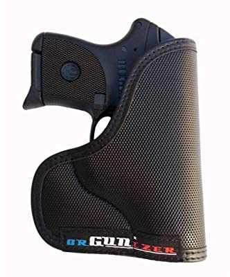 Garrison Grip Custom Fit Leather-Trimmed Pocket Holster Concealed Carry Comfort, Ruger LCP 380 (B)