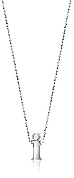 ウー Alex Woo Little Letter by Initial Pendant Necklace in Sterling Silver アレックス ネックレス