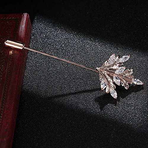 igan sweater word corsage pin brooch large shawl pin clasp jewelry with zircon Maple Leaf men women