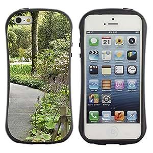 LASTONE PHONE CASE / Suave Silicona Caso Carcasa de Caucho Funda para Apple Iphone 5 / 5S / Plant Nature Forrest Flower 106