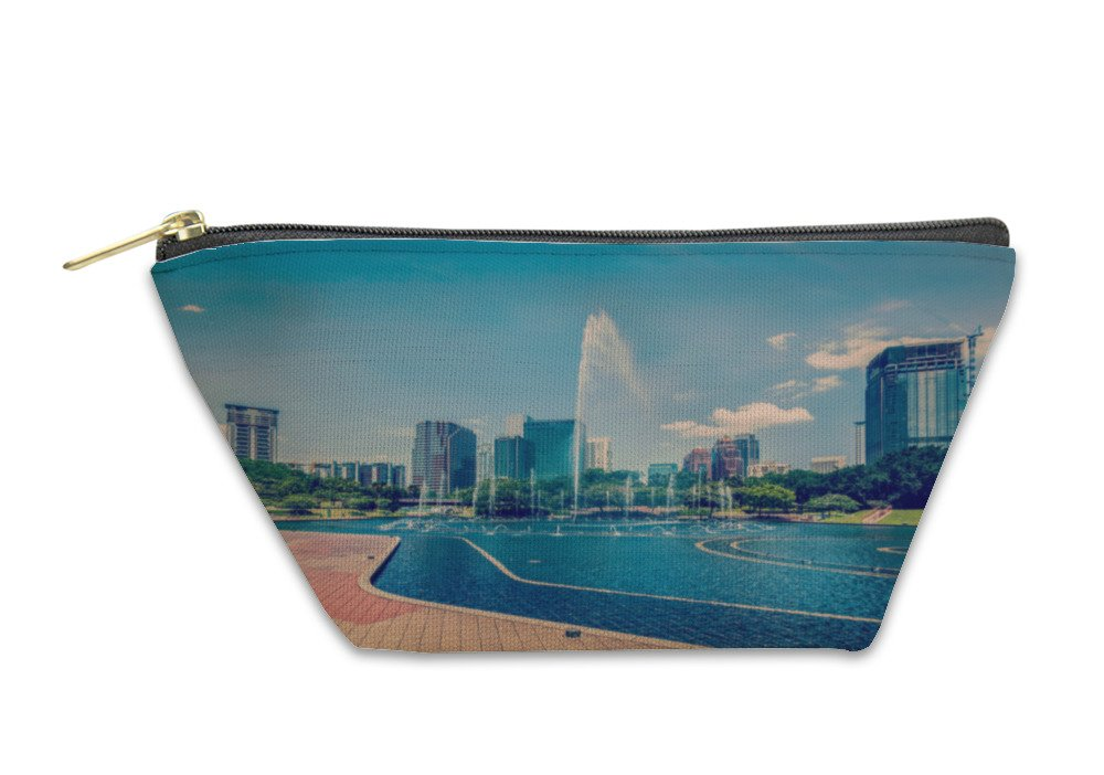 Gear New Accessory Zipper Pouch, Central Business District Of Kuala Lumpur, Large, 5878531GN