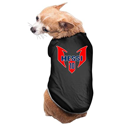 910b0e8b25a Amazon.com   ZZYY Warm Barcelona Soccer Star Messi Logo Pet Clothing ...