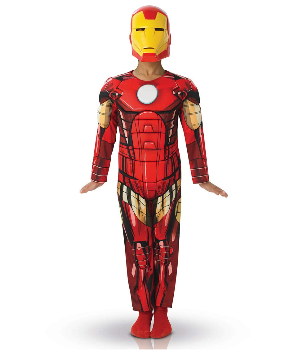 Horror-Shop Disfraz de Iron Man Deluxe M (5-6): Amazon.es ...