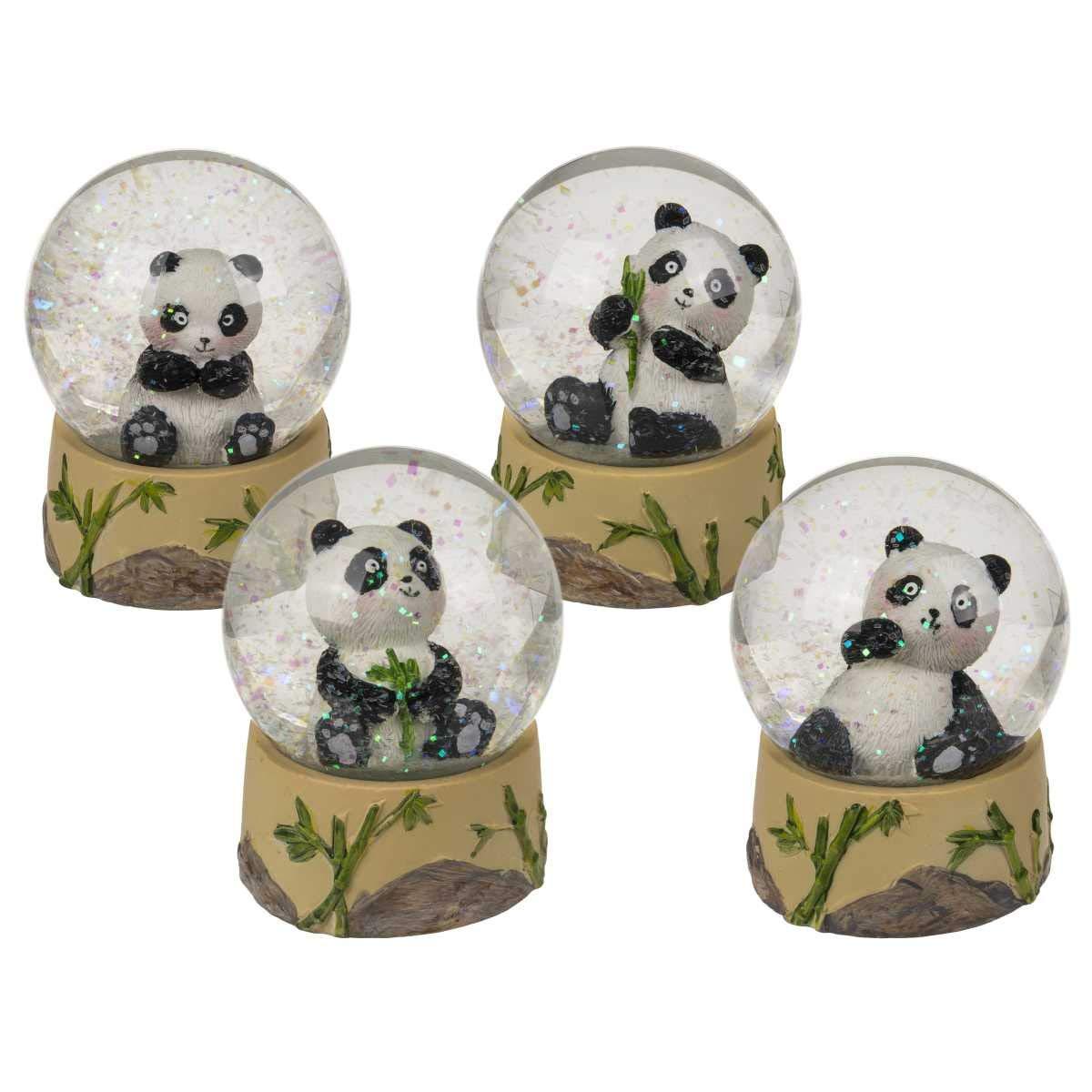 Out of the blue Baby Sitting Panda Glitter Globo De Nieve