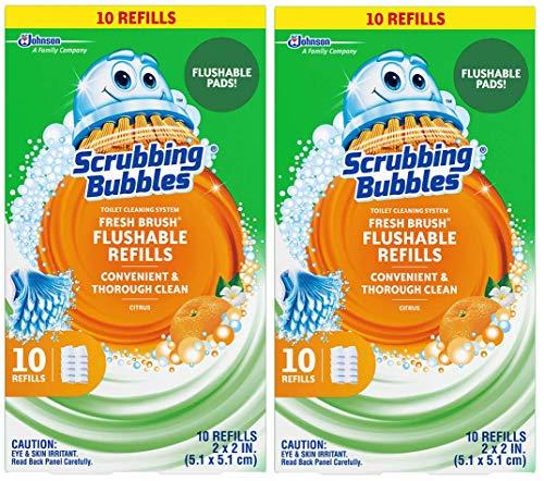 Scrubbing Bubbles Fresh Brush - Scrubbing Bubbles Fresh Brush Refill 10-Count,2 Pack