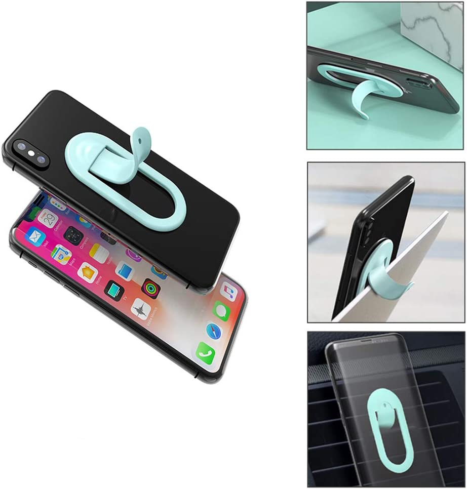 Magnetic Car Phone Mount Universal Bracket Elastic Phone Holder Washable Strong Sticky Gel Pad One-Touch Design Dashboard Adjustable Desk Car Phone Holder for iPhone iPad Samsung Huawei LG Silver