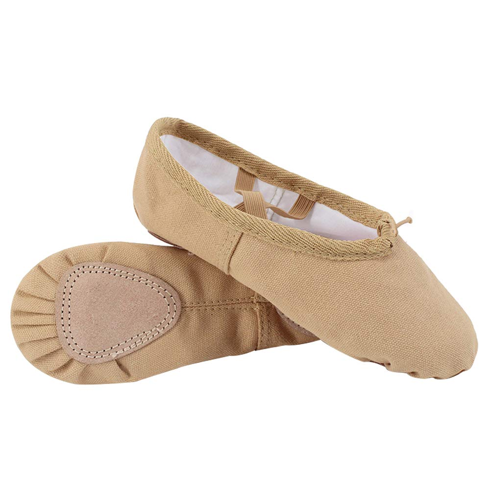 DULEE Tolder Girls-Womens Solft Sole Wearable Canvas Ballet Shoes Dancing Ballet Slippers Gymnastics Yoga Flats Shoes