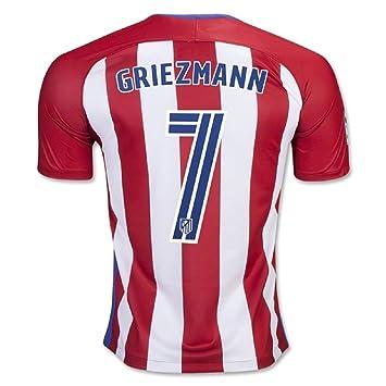 2016 2017 Atletico Madrid 7 Antoine Griezmann Inicio Camiseta De Fútbol En Rojo: Amazon.es: Deportes y aire libre