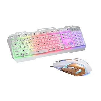 Power Lead Teclados de Gaming, Klim Chroma Gamer Teclado QWERTZ Alemán con cable USB - Alta Potencia - Multicolor iluminación Gaming Teclados: Amazon.es: ...