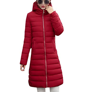 check out 6b24b 473d4 YOUR GALLERY Damen lang slim fit Daunenjacke Daunenmantel Steppjacke  wintermantel