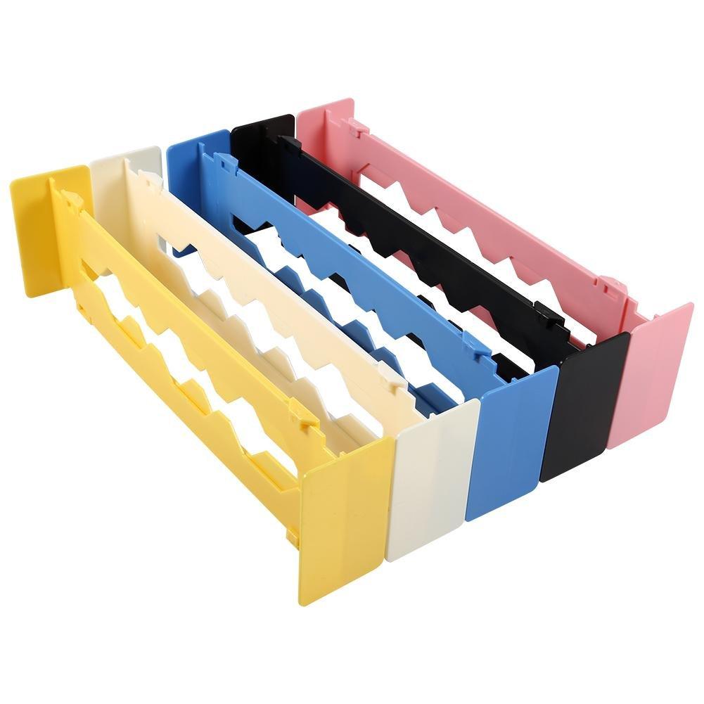 Blue Adjustable Drawer 5 Colors Clapboard Home Kitchen Drawer Divider Partition Storage Organizer