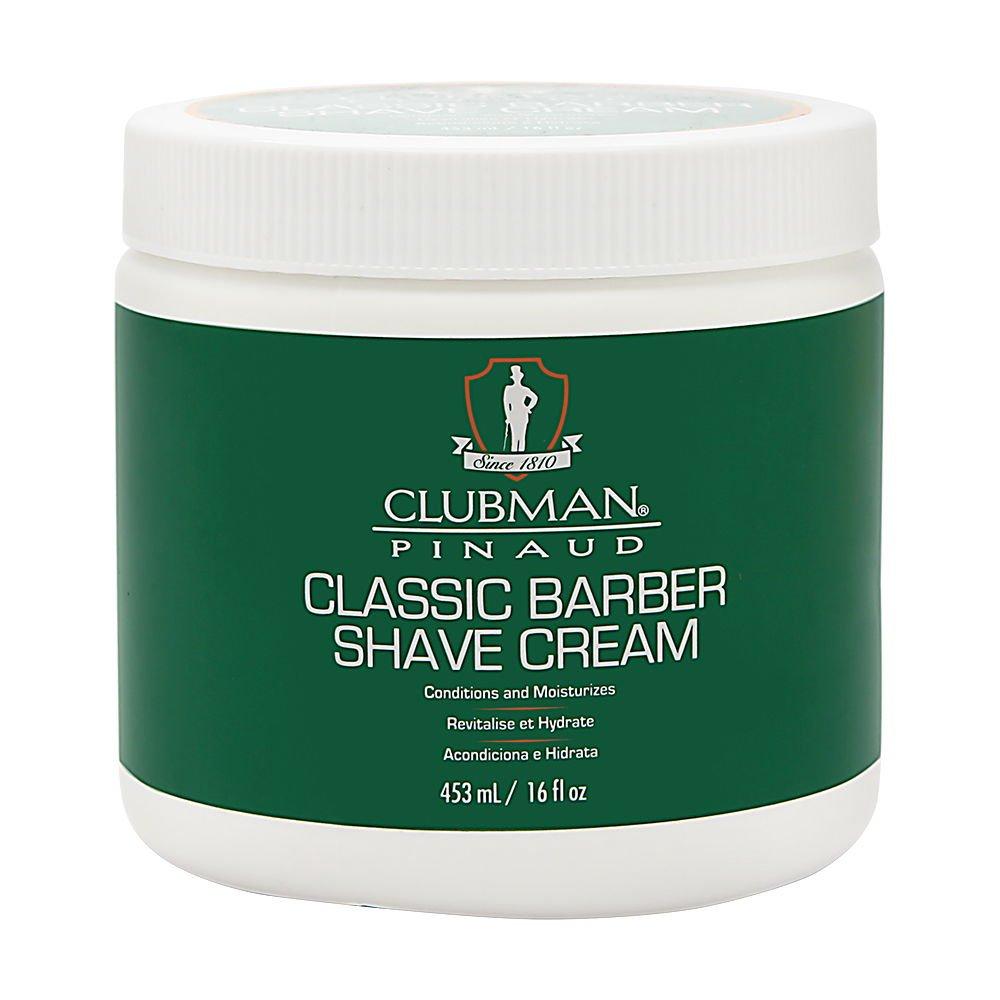 Amazon.com: Clubman clásico barbero afeitado Crema, 16 onzas ...