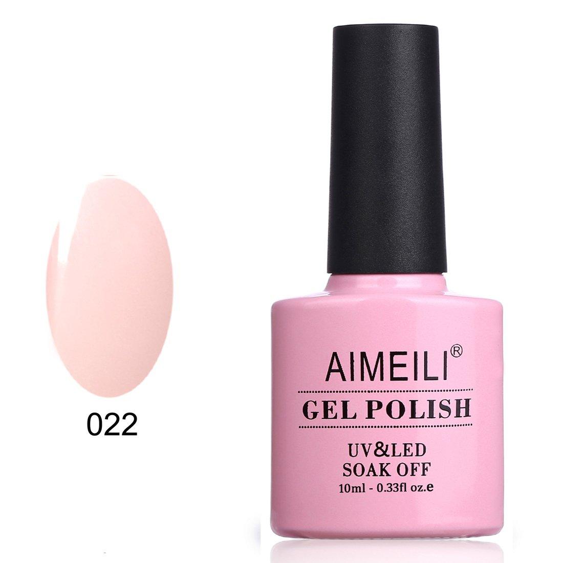 AIMEILI Soak Off UV LED Gel Nail Polish - Rose Nude (022) 10ml