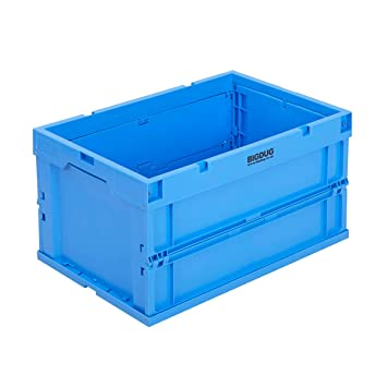 Euro - contenedores apilables Cajas de almacenamiento cajas de plástico azul varios tamaños, color azul 60 Litre: Amazon.es: Oficina y papelería