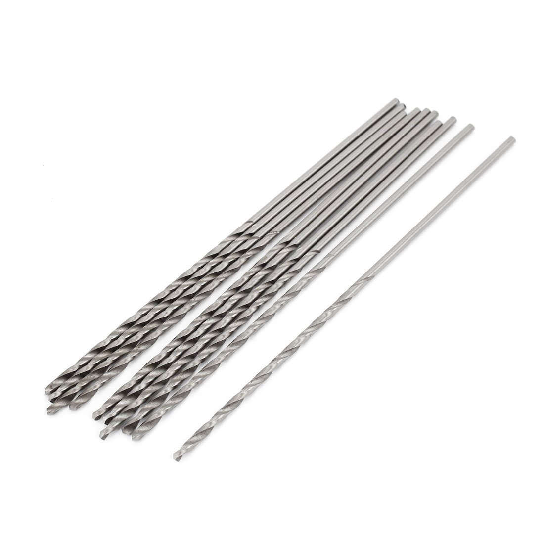 High Speed Steel 2.5mm x 80mm Tip Straight Shank Twist Drill Bit 10pcs Sourcingmap A14082900UX0257