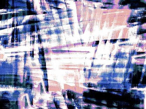 Sateen Print Dress - John Kaldor Abstract Print Cotton Sateen Dress Fabric Blue - per metre