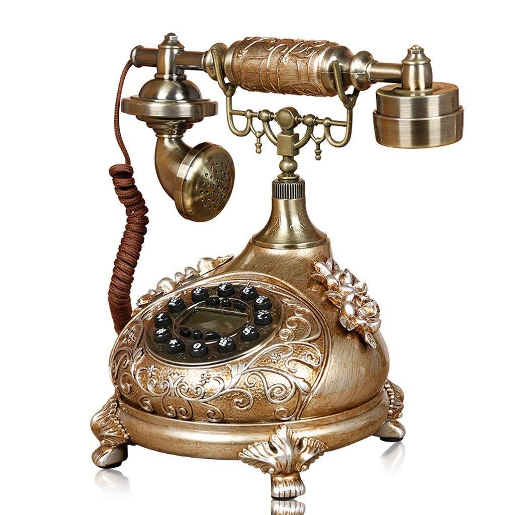 固定電話 ヨーロッパスタイルのリビングルーム電話ホームベッドルームクリエイティブレトロ固定電話ファッションヴィンテージ固定電話 固定電話 B07QNJQ84P