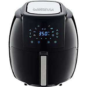 GoWISE USA GW22731 1700-Watt 8-in-1 Digital 50 Recipes for Your Air Fryer Book, 5.8-QT, Black