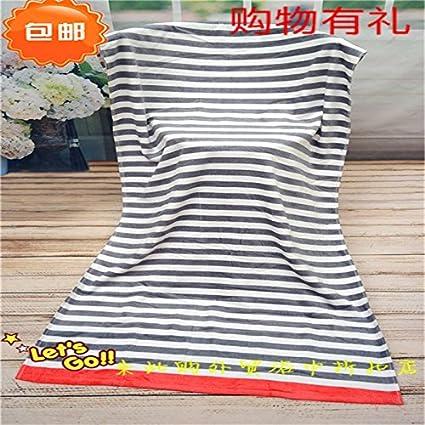 Toallas de baño de algodón extendido SunJin TEZENIS y rayas grises de grosor estándar de una toalla de baño para absorción de agua blanda: Amazon.es: Hogar