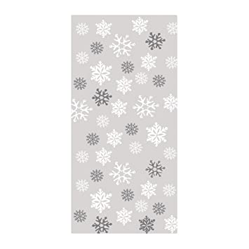 Christmas Snowflake Large Cello Bags 20 Pack