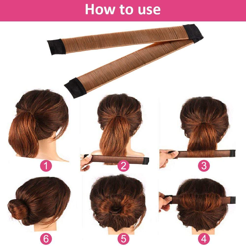 Hair Styling Bun Maker Accessories Set, Accessory for Styling Hair Band Fashion DIY Fast Bun French Braids Ponytails Maker Hair Elastics Modelling Braiding Tool Kit by DELOVE (Image #7)