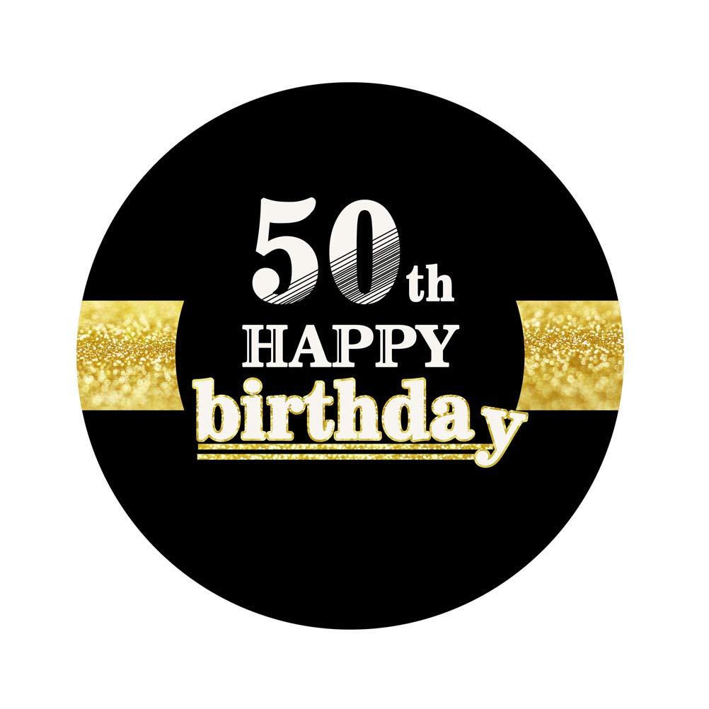 Amosfun 12 Piezas 50a Feliz cumpleaños Pegatinas 50 ...